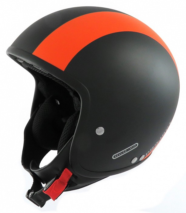 CASCO MOTO FIBRA E KEVLAR GORDON  KV73O SENZA VISIERINO PROJECT FOR SAFETY